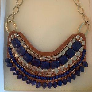 Blue Indira Bib Necklace-Stella & Dot